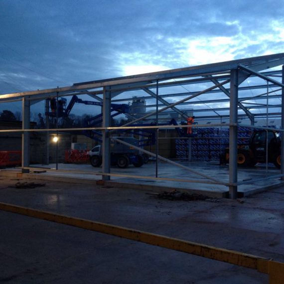 New industrial building, Aggregate Industries