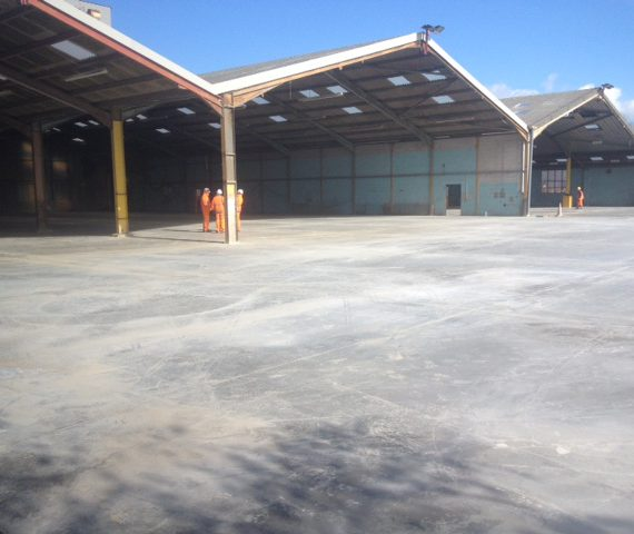 6600 cubic meters concrete base, Aggregate Industries