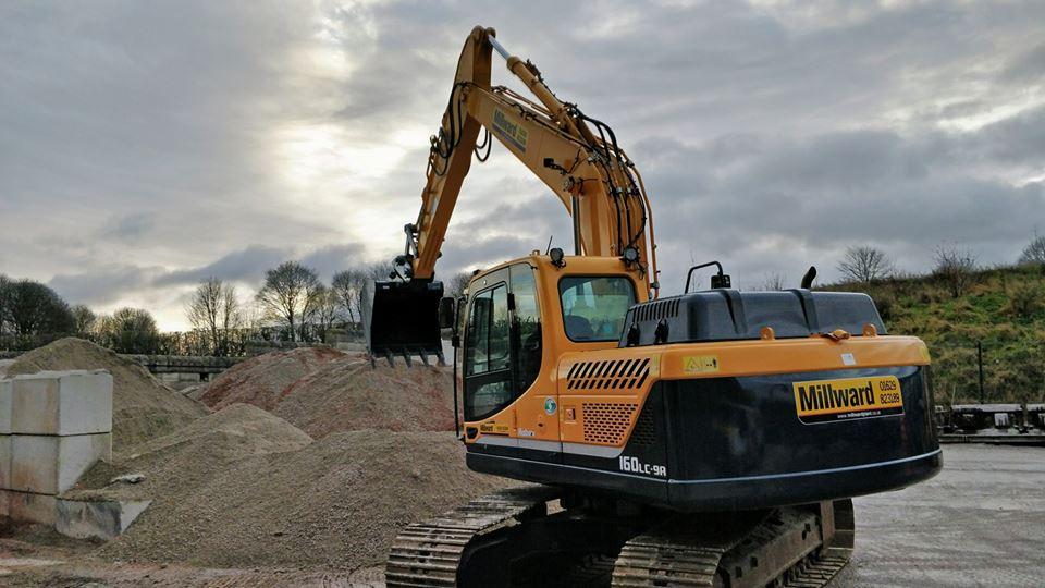 millward, civil engineering, groundworks, plant hire. matlock, derbyshire, uk