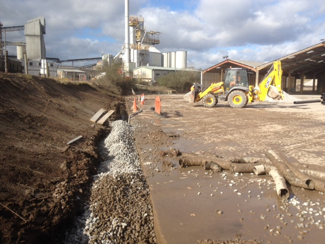 Drainage installation, Aggregate Industries, Croft Quarry, Leicester